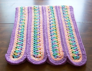 Crochet Stitches Mile A Minute : Mile a Minute Afghan - 3 Round Pattern