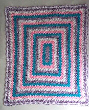 Free Rectangle Granny Square Afghan Pattern