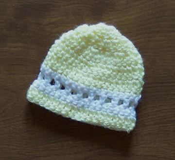 Free Easy Crochet Preemie Beanie Hat Pattern