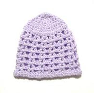 Free Easy Crochet V Stitch Newborn Beanie Hat Pattern
